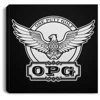 OPG Custom Design #00. OPG - One Putt Golf.  Front and Back Design. Square Canvas .75in Frame