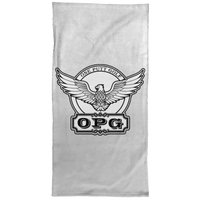 OPG Custom Design #00. OPG - One Putt Golf.  Front and Back Design. Hand Towel - 15x30