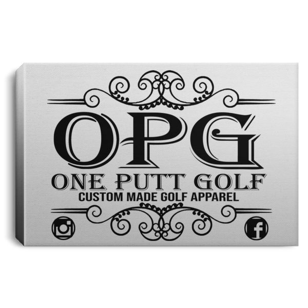 OPG Custom Design #00. OPG - One Putt Golf.  Front and Back Design. Landscape Canvas .75in Frame
