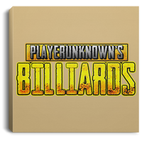 The GHOATS custom design #25. PlayersUnknown Billiards. PUBG Parody. Pool / Billiards. Square Canvas .75in Frame