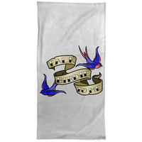 OPG Custom Design #17. Talk Birdie To Me. Female American Traditional Tattoo Style Design. Golf. Hand Towel - 15x30