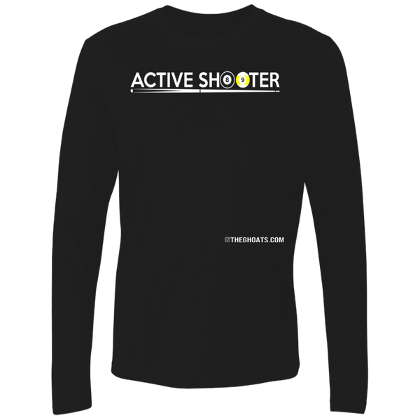 The GHOATS Custom Design #1. Active Shooter. Ultra Soft Fitted Men's Long Sleeve