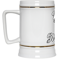The GHOATS custom design #42. Baller. Shot Caller. Pool/Billiards. Beer Stein 22oz.
