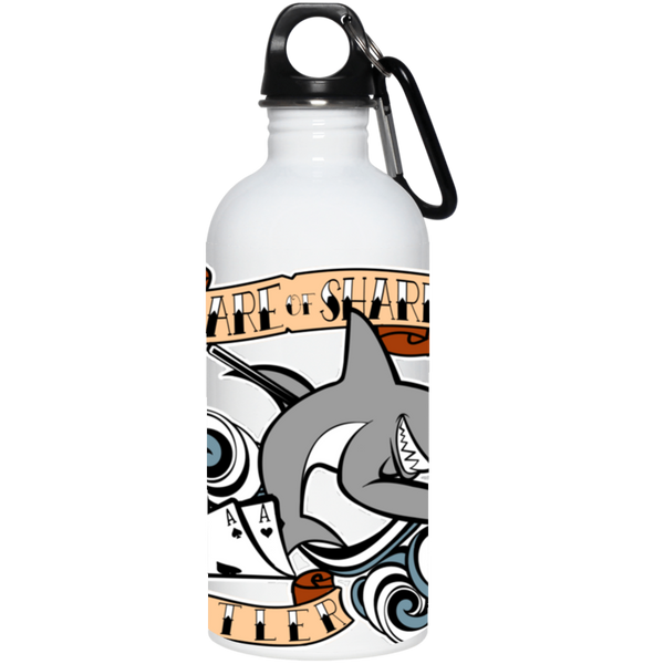 The GHOATS custom design #4. Beware of Sharks. Deisgned for my Dad, the best Pool and Card Shark out there. Let's create something for someone you know. Pool/Billiards. 20 oz. Stainless Steel Water Bottle