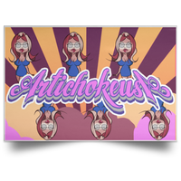 ArtichokeUSA Character and Font Design #3. Let's Create Your Own Design Today. Landscape Poster