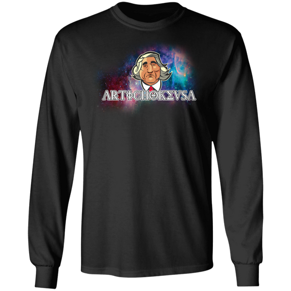 ArtichokeUSA Character and Font design #19. Michio Kaku Fan Art. Let's Create Your Own Design Today. Long Sleeve 100% Cotton T-Shirt