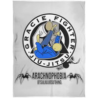 Artichoke Fight Gear Custom Design #1. Arachnophobia. It's A Jiu Jitsu Thing. Spider Guard. BJJ. Arctic Fleece Blanket 60x80