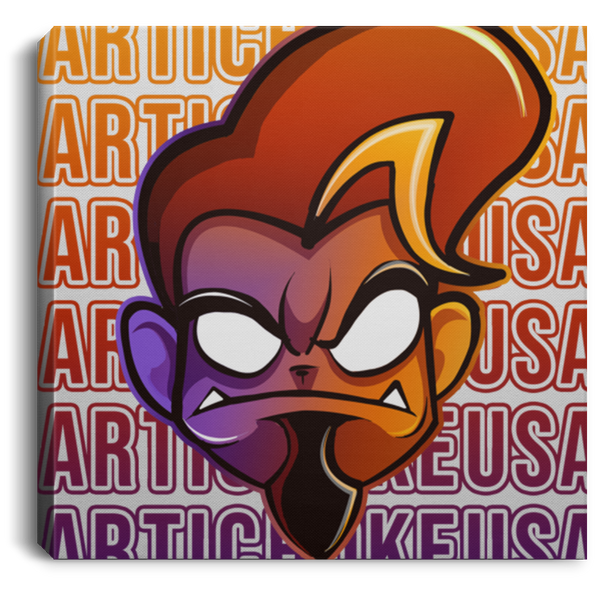 ArtichokeUSA Character and Font Design #1. Let's Create Your Own Design Today. Square Canvas .75in Frame