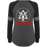 The GHOATS Custom Design #3. Beware of Sharks. Pool/Card Shark. Ladies' Sports Team Style V-Neck Long Sleeve