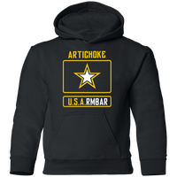 Artichoke Fight Gear Custom Design #8. ArtichokeUSArmbar. US Army Parody. Youth Pullover Hoodie