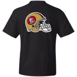 ArtichokeUSA Custom Design #50. 9ers Love. SF 49ers Fan Art. Let's Make Your Own Custom Team Shirt. Thick Cotton T-Shirt