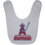 ArtichokeUSA Custom Design #4. California Anglers.California Sportsfishing. Angels of Anaheim from Orange County in California Parody. Baby Bib