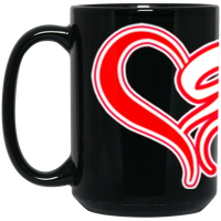 ArtichokeUSA custom design #50. 9ers Love. SF 49ers parody. Sports. 15 oz. Black Mug