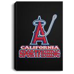 ArtichokeUSA Custom Design #4. California Anglers.California Sportsfishing. Angels of Anaheim from Orange County in California Parody. Portrait Canvas .75in Frame