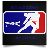 Artichoke Fight Gear Custom Design #2. BJJ MLB Parody v1. Satin Square Poster