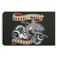The GHOATS custom design #4. Beware of Sharks. Deisgned for my Dad, the best Pool and Card Shark out there. Let's create something for someone you know. Pool/Billiards. Landscape Canvas .75in Frame