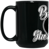 The GHOATS custom design #42. Baller. Shot Caller. Pool/Billiards. 15 oz. Black Mug