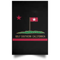 OPG Custom Design #8. Golf Southern California. All Year Long Baby!! Satin Portrait Poster