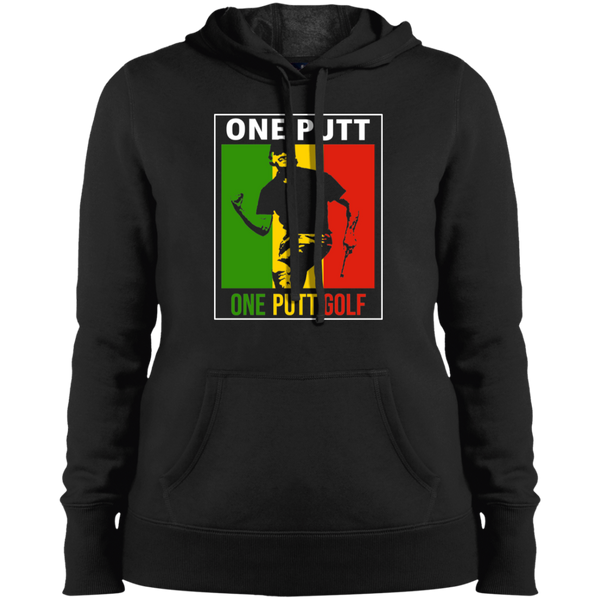 OPG Custom Design #13. ONE PUTT. ONE LOVE Parody. Golf. Ladies' Pullover Hoodie