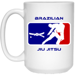 Artichoke Fight Gear Custom Design #2. BJJ MLB Parody v1. 15 oz. White Mug