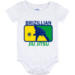 Artichoke Fight Gear Custom Design #5. BJJ MLB Brazil Flag Colors. Parody v2. Baby Onesie 12 Month