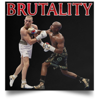 Artichoke Fight Gear Custom Design #10. Brutality. Mortal Kombat Parody. MMA.  Satin Square Poster