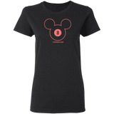The GHOATS Custom Design #19. Look at the back. Mickey Hustle. Mickey Fan Art. Ladies' Basic 100% Cotton T-Shirt