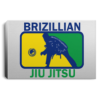 Artichoke Fight Gear Custom Design #5. BJJ MLB Brazil Flag Colors. Parody v2. Landscape Canvas .75in Frame