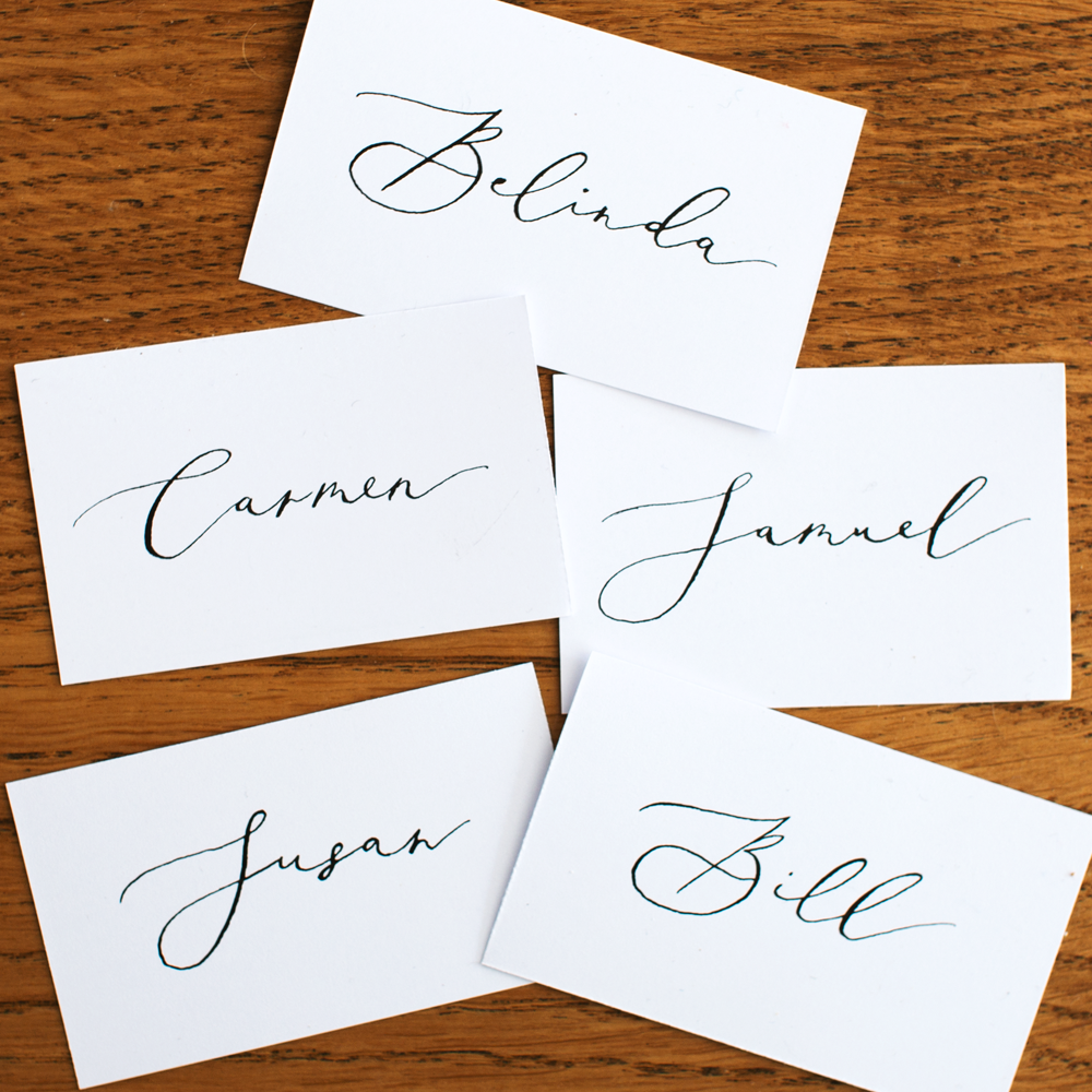 Classic Calligraphy Name Place | Custom Luxury Wedding Stationery | Blossie Launceston