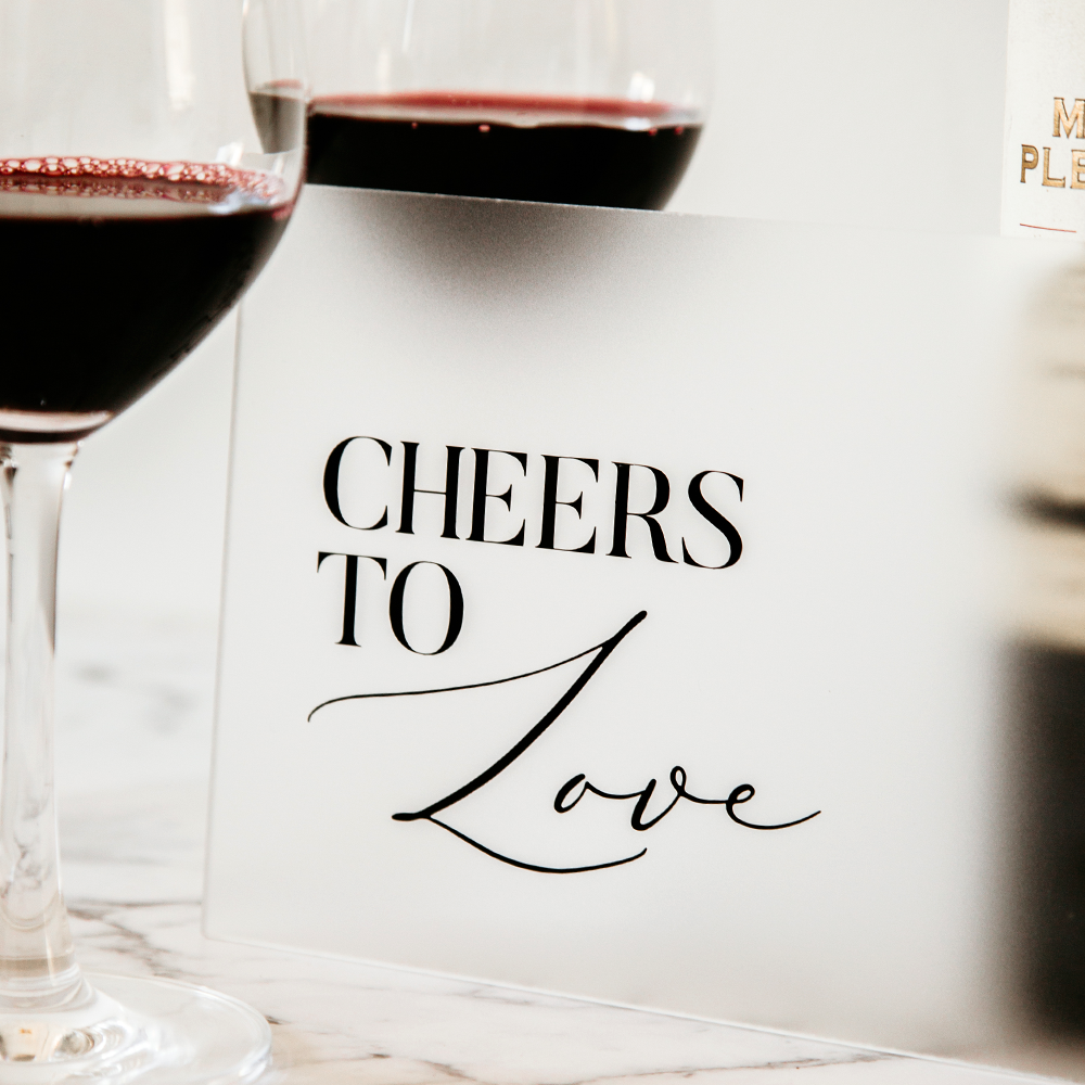 HIRE - Cheers to Love 5 inch x 7 inch