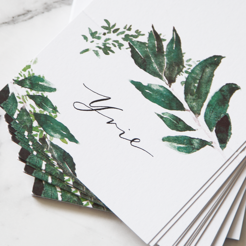 Botanical Calligraphy Name Place | Custom Luxury Wedding Stationery | Blossie Launceston