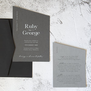 Ruby and George Suite | Custom Luxury Wedding Stationery | Blossie Launceston