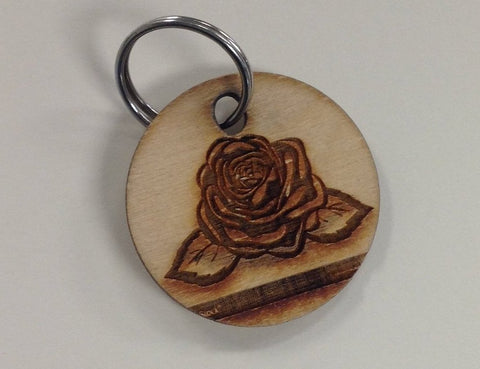Rose circle keychain