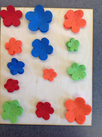 make your own felt flowers !