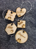 Wine charms set of 5