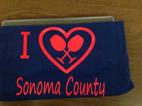 I love Sonoma County decal