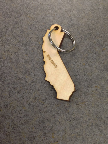 Wine country California Keychain