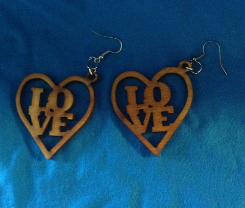 Small Love Heart Earrings