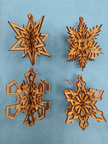 Set of 4 Snowflakes