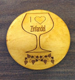 Set Of 4 Customized Wine Coasters