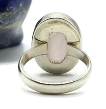Load image into Gallery viewer, Rose Quartz Ring, Size 8.25, Sterling Silver, Oval Shaped, Cabochon - GemzAustralia