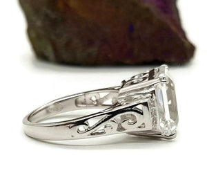 Clear Quartz Ring, 925 Sterling Silver, size 7.5, Genuine gemstones - GemzAustralia
