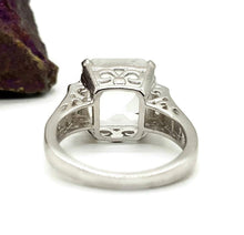 Load image into Gallery viewer, Clear Quartz Ring, 925 Sterling Silver, size 7.5, Genuine gemstones - GemzAustralia