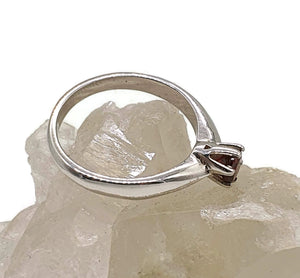 Garnet Ring, Solitaire Ring, Size 8.5, 925 Sterling Silver, January - GemzAustralia