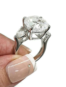 Clear Quartz Ring, Size 6.75, Sterling Silver, Trilogy Ring, Psychic - GemzAustralia