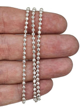 Load image into Gallery viewer, Sterling Silver Chain, 46 cm, 18 inches, Beaded Chain, Ball Chain - GemzAustralia