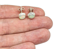 Load image into Gallery viewer, Ethiopian Opal Studs, Sterling Silver, Oval Shaped, October Stone - GemzAustralia