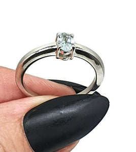 Aquamarine Ring, Size 8, Sterling Silver, Engagement Ring, March Gem - GemzAustralia
