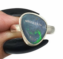 Load image into Gallery viewer, Australian Opal Ring, Size 9.5, Sterling Silver, Opal Triplet, October Birthstone - GemzAustralia