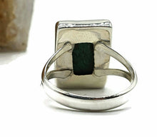 Load image into Gallery viewer, Malachite Ring, Size 9, Sterling Silver, Rectangle Shape, Rich Green Gemstone - GemzAustralia
